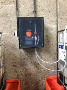 Dosing pump in cabinet